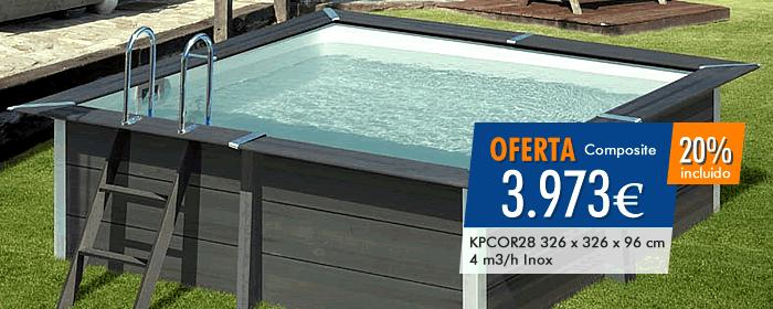 Oferta piscina desmontable composite