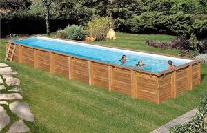 Piscina madera rectangular cardamon
