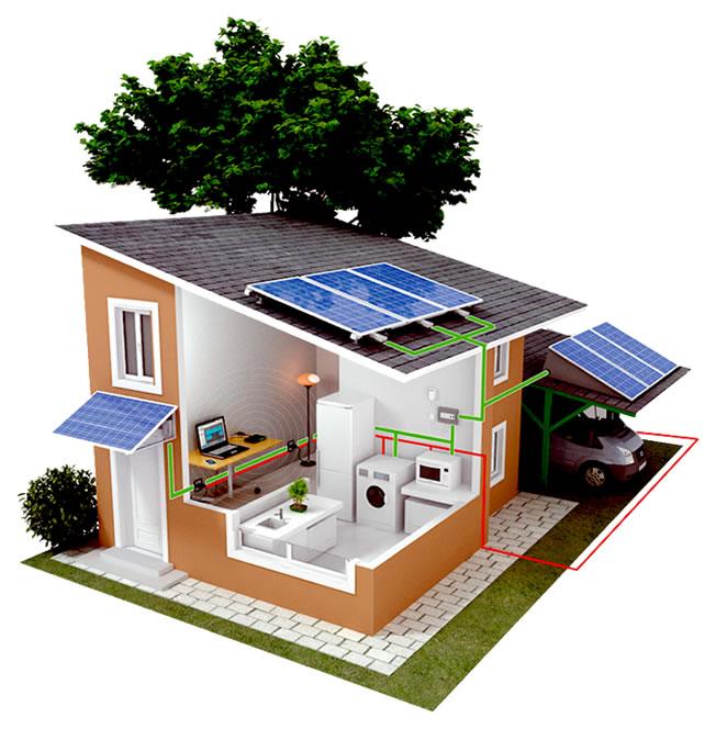 Casa autoconsumo energético