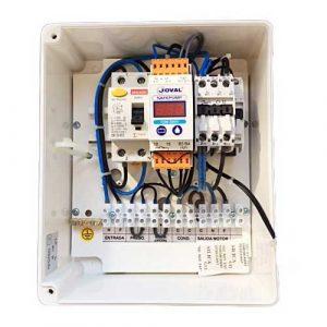 cuadro eléctrico trifásico protección bomba agua sumergible