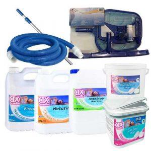 kit para limpieza y mantenimiento de piscinas
