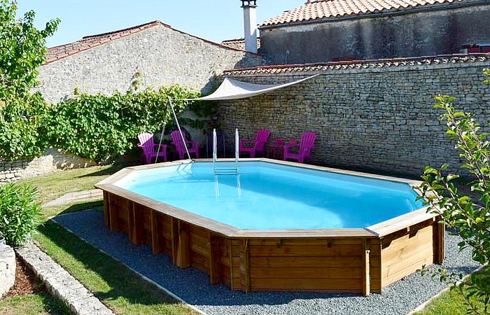 piscina ovalada desmontable madera safran
