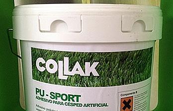 adhesivo de poliuretano bicomponente para el pegado de césped artificial sintético