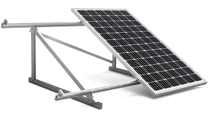 estructura coplanar 11V paneles solares