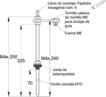 fijador para estructuras coplanares placas solares